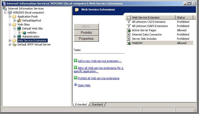 Sean Ashton - WebDAV Navigator setup for IIS6 on Windows