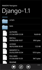 Windows Phone file list